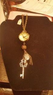 clock necklace